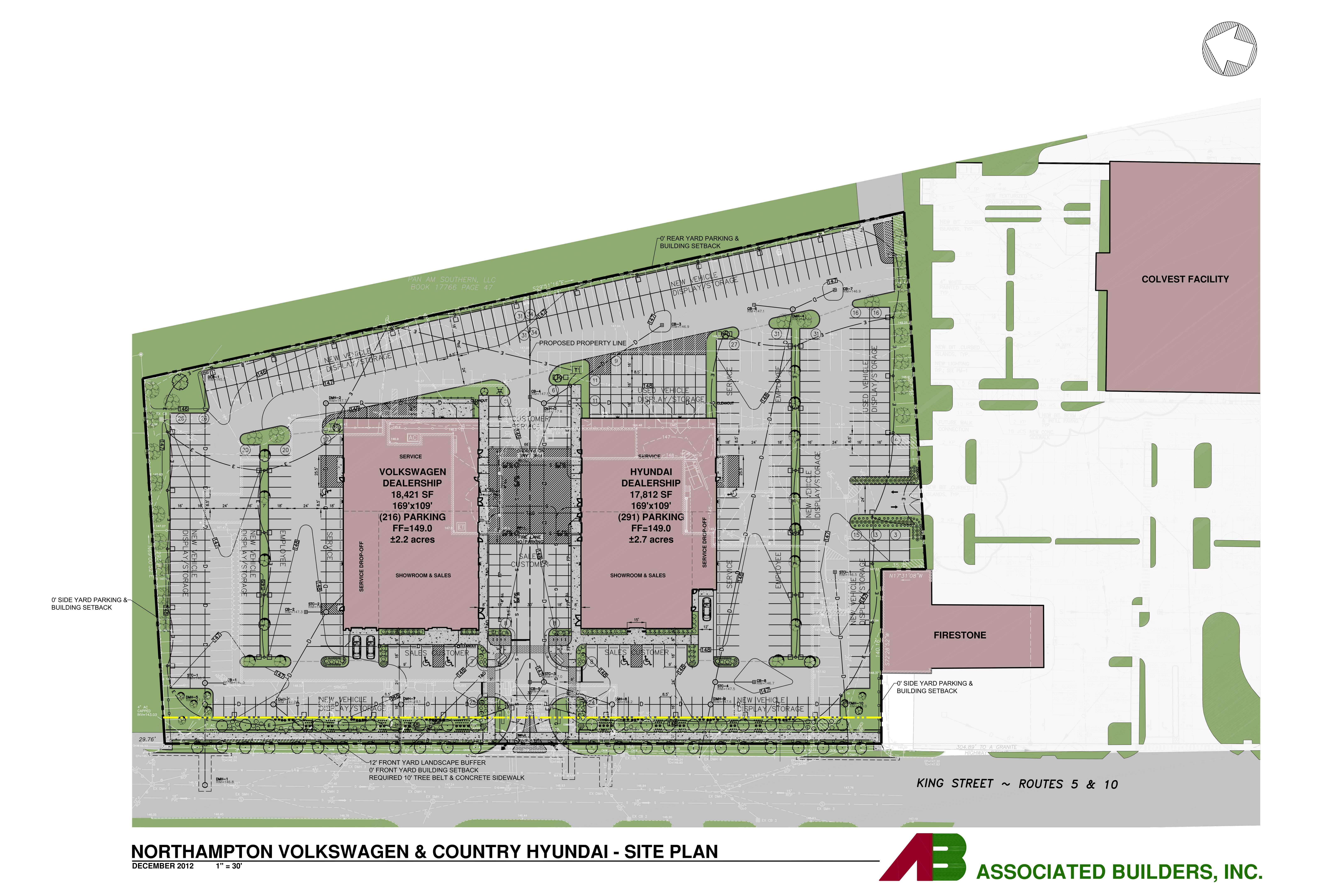 Colored Site Plan.